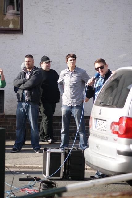 Maik Scheffler, Jens Rüttiger, Sven Diem und Michael Schäfer (v. l. n. r.).  Foto: provinicafranconia.blogsport.de