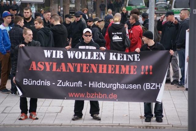 Die Neonazis des thüringischen 'Bündnis Zukunft Hildburghausen' title=