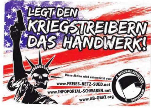 Diesen Flyer verteilen die Neonazis beim Faschingsumzug (Ausschnitt der Vorderseite). Repro-Foto: a.i.d.a.