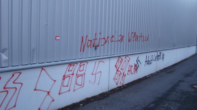 Neonazistische Schmierereien in Amberg, Teil 1. Foto: RSA