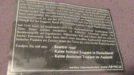 In Pappenheim verteilter neonazistischer Flyer (Rückseite).  Foto: wug-gegen-rechts.de