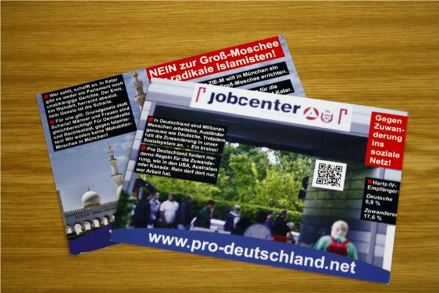 Die verteilten Postkarten. Foto: a.i.d.a.