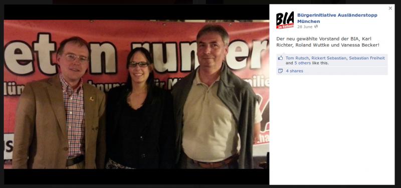 Screenshot: BIA stellt auf Facebook ihren neuen Vorstand vor