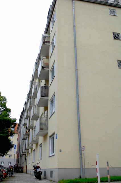 Der Fundort der Nagelbombe in München-Schwabing. Foto: a.i.d.a.