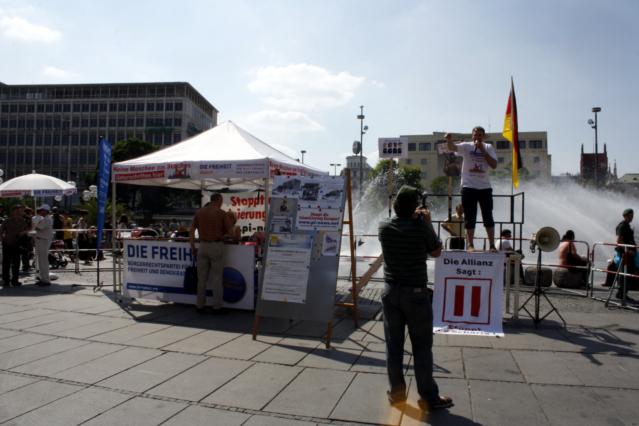 DF-Kundgebung auf dem Stachus. Foto: Tim Karlson