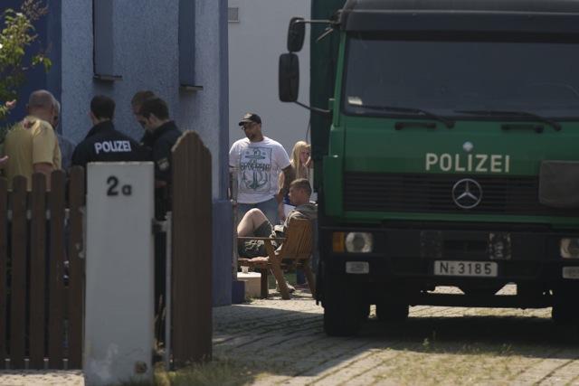 Hausdurchsuchung bei Matthias Fischer in Fürth-Stadeln.  Foto: Timo Müller