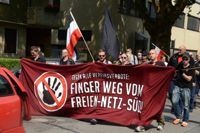 Solidaritätsbekundung mit dem 'Freien Netz Süd'. Foto: lfa