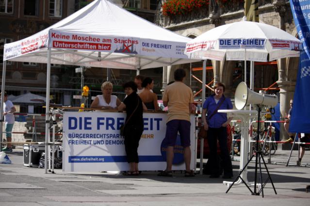 DF-Kundgebung auf dem Marienplatz. Foto: Tim Karlson
