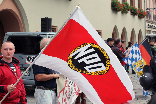 NPD-Kundgebung in Landshut. Foto: Jan Nowak