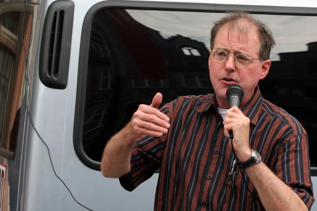Karl Richter bei seiner Rede.  Foto:Jan Nowak