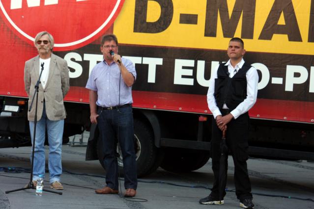 v.l.n.r. Volker Knetsch, Holger Apfel, Alexander Kurth. Foto: Tim Karlson