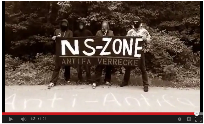 Screenshot vom Bekennervideo der Neonazis.