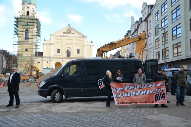 BIA-Kundgebung auf dem Josephsplatz.  Foto: Hannah Hofmann