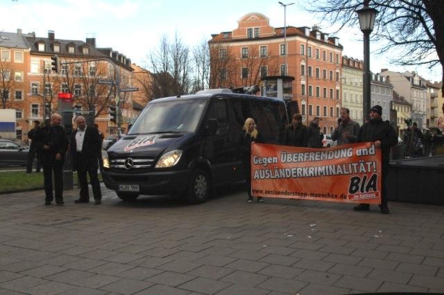 BIA-Kundgebung am Rosenheimer Platz.  Foto: Robert Andreasch