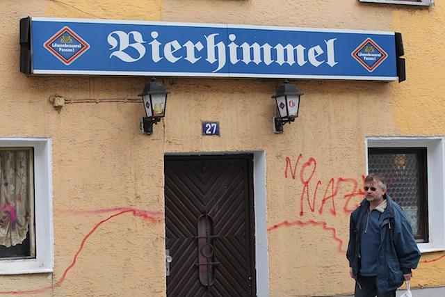 Das NPD-Stammlokal 'Gasthof Gruber' in Deggendorf. Foto: Jan Nowak