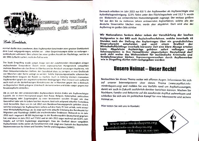 Das rassistische Flublatt. Repro: a.i.d.a.