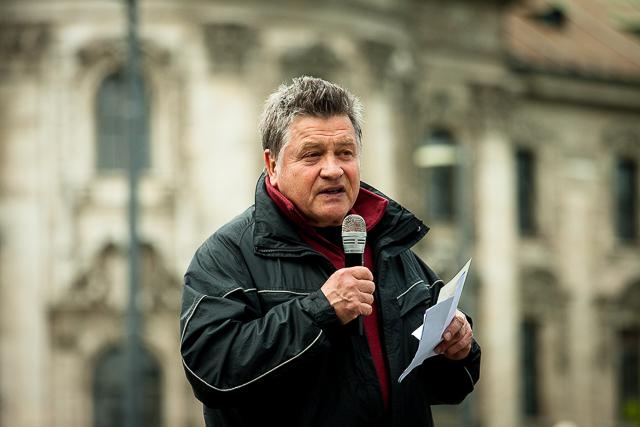 Der Bezirksvorsitzende der 'Repubikaner', Reinhard Hornberger. Foto: Tim Karlson