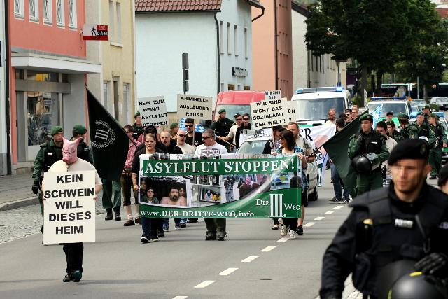 Der rassistische Aufzug in Deggendorf. Foto: Jan Nowak