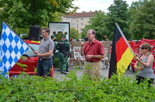 BIA-Kleinkundgebung in München-Freimann.  Foto: Hannah Hofmann
