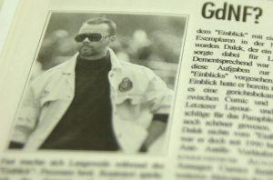 Die antifaschistische Infozeitung Rabatz aus Bayern berichtete 1995 ausführlich über die Aktivitäten Daleks bei der GdNF. Reprofoto: a.i.d.a.
