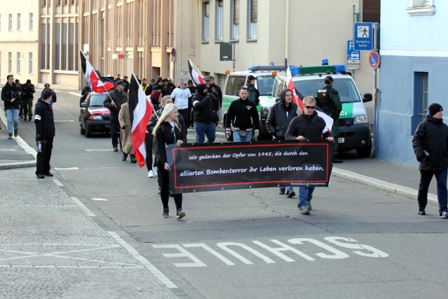 Der kleine Aufmarsch in Würzburg. Foto: Jan Nowak