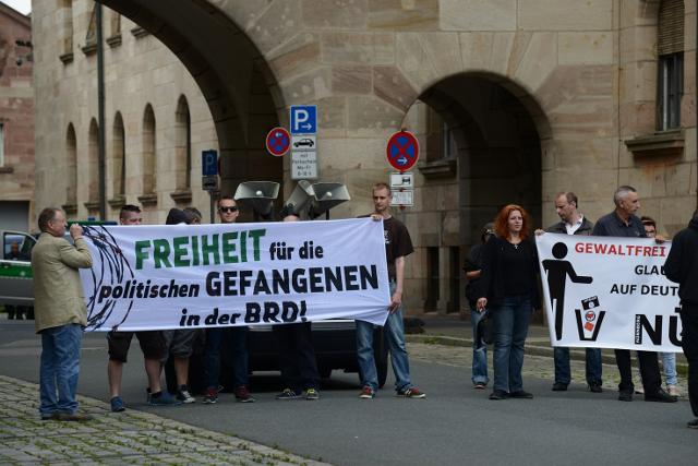 Kundgebung von 'Die Rechte' in Nürnberg.  Foto: Timo Mueller