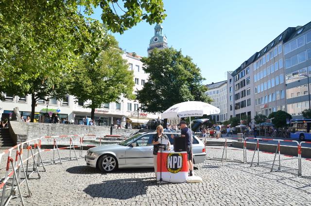 Die kurze NPD-Kundgebung auf dem Rindermarkt. Foto: a.i.d.a.