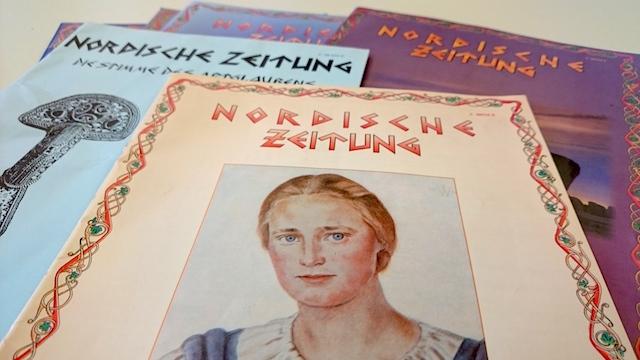Ausgaben der 'Nordischen Zeitung' der 'Artgemeinschaft'.  Foto: a.i.d.a.