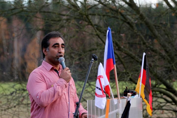 Redner Fikri Akar.  Foto: Jan Nowak