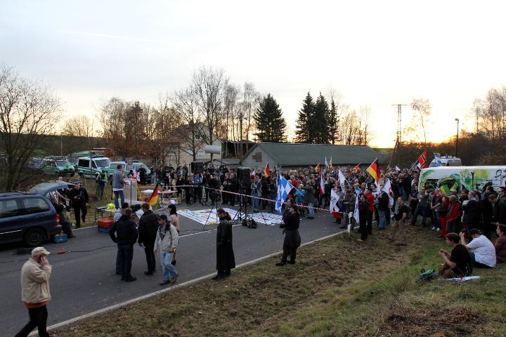 Die Kundgebung in Schirnding.  Foto: Jan Nowak