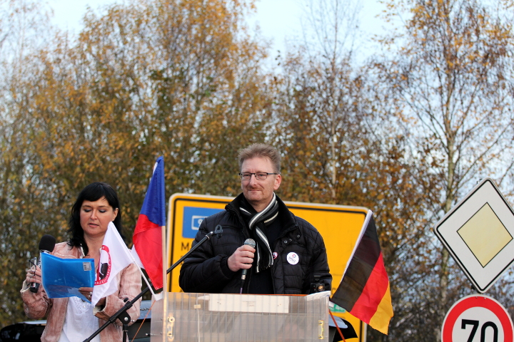 Redner Marek Černoch.  Foto: Jan Nowak