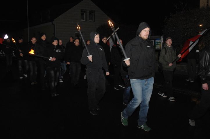 Der neonazistische Marsch durch Wunsiedel.  Foto: Robert Andreasch