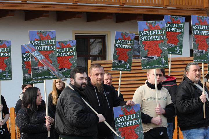 Die Kundgebung in Arnbruck.  Foto: Jan Nowak