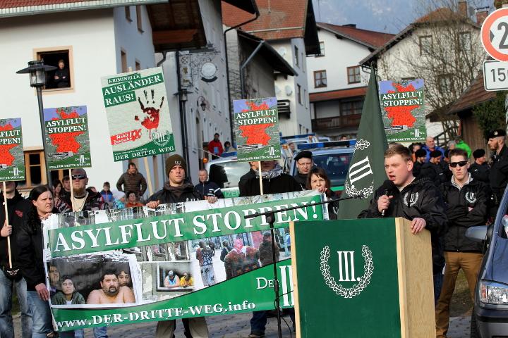Redner bei der Kundgebung in Arnbruck: Walter Strohmeier.  Foto: Jan Nowak