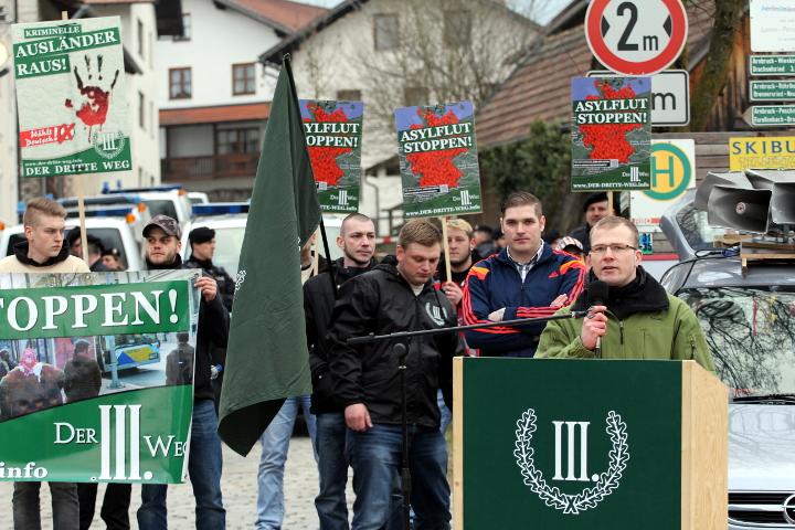Redner bei der Kundgebung in Arnbruck: Kai Zimmermann.  Foto: Jan Nowak