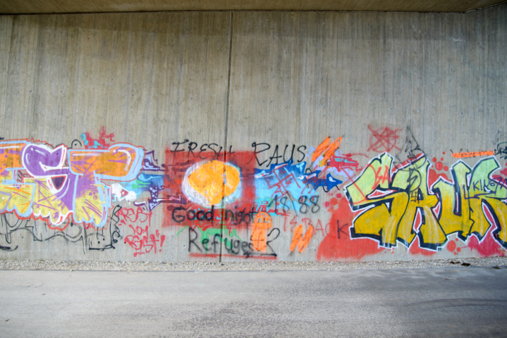 Neonazistische Graffities in Zorneding. Foto: Benny Neudorff