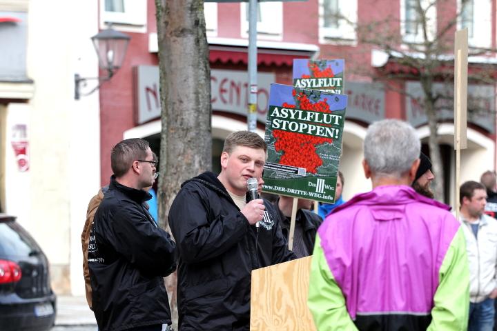 Redner Walter Strohmeier.  Foto: Jan Nowak