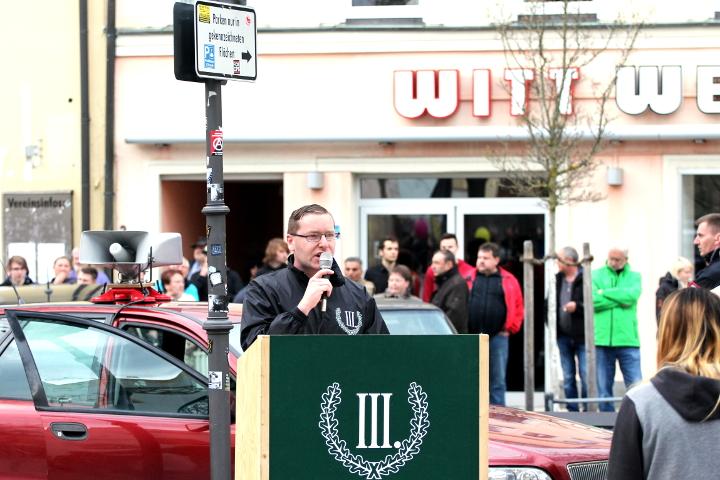 Weiterer Redner auf der Kundgebung in Viechtach.  Foto: Jan Nowak