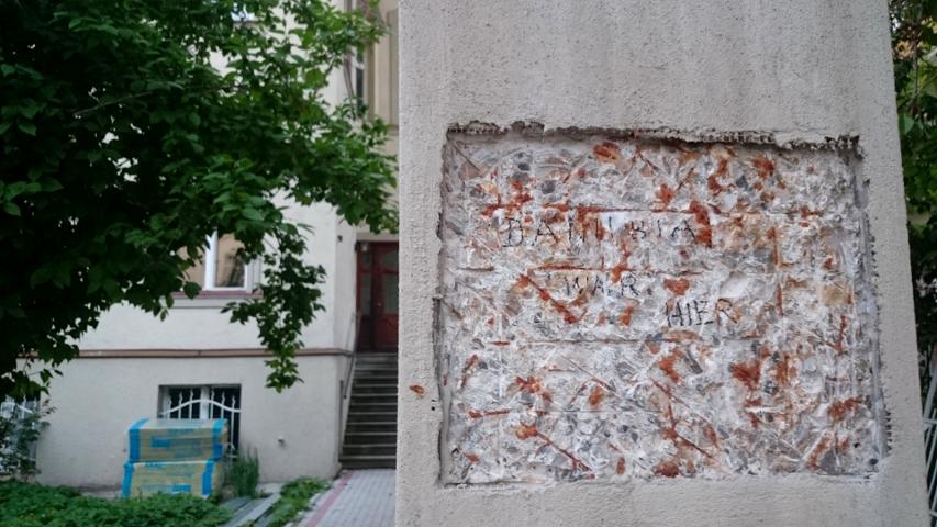 Filzstift-Gekrakel der 'Danuben' zum Abschied. Foto: a.i.d.a.