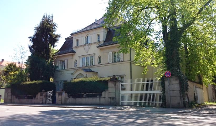 Die neue Villa der 'Danubia' in der Potsdamerstraße. Foto: a.i.d.a