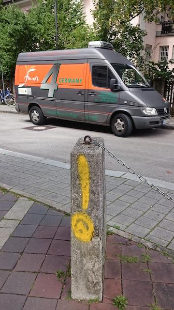 Sachbeschädigung in der Fuchsstraße.  Foto: Robert Andreasch