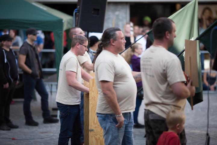 Ein weiterer Redner bei der Kundgebung.  Foto: www.24mmjournalism.com