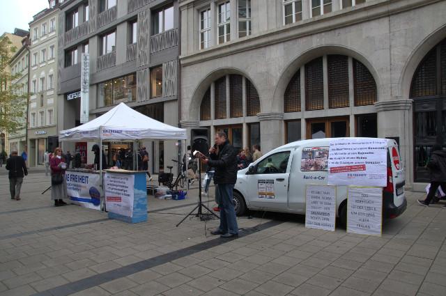 DF-Kundgebung in der Innenstadt. Foto: DP