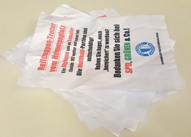 Die Propaganda von 'Der Schild' wurde rasch entfernt. Foto: a.i.d.a.