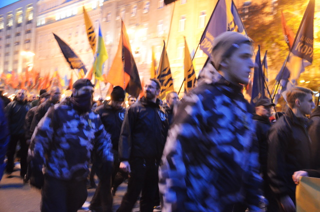 Der Aufmarsch in Kiew.  Foto: a.i.d.a./UA