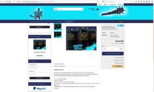 Screenshot der im Entstehen befindiichen Schmied-von-Kochel-Webseite. Im Angebot: der 'identitäre Bierkrug'. Screenshot: a.i.d.a.