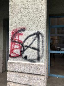 Sprüherei in der Tulbeckstraße. Foto: a.i.d.a.