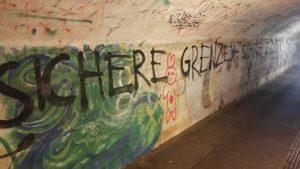 'Identitäre' Schmierereien in der Unterführung am Ascherbach. Foto: a.i.d.a.
