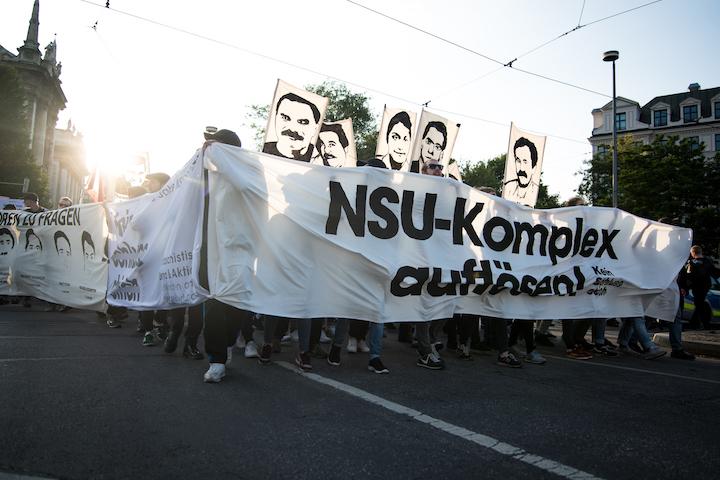 Antifaschistische Demonstrationn am Tag der Urteilsverkündung im ersten NSU-Prozess. Foto: Robert Andreasch