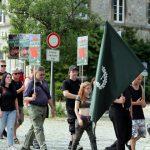 Der Demozug der Neonazis. Foto: Jan Nowak
